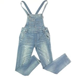 Free People Overalls Denim Skinny Jeans Distressed